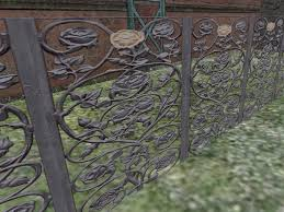 second marketplace grey painted wrought iron ornamental