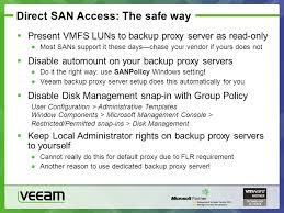 Sans Policy Templates by Veeam Backup Replication Tips And Tricks Ppt