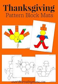 thanksgiving mats for pattern blocks pattern blocks