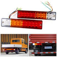 2pcs trailer lights led stop rear tail brake reverse light turn