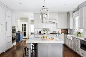 light gray kitchen cabinets transitional light grey kitchen with grey island