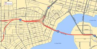 I 95 Map State Plan To Improve Fuller Warren Bridge And I 10 I 95