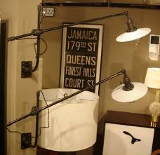 Plug In Swing Arm Wall Lamp Pair Of Vintage O C White Industrial Wall Mount Swing Arm Lamps