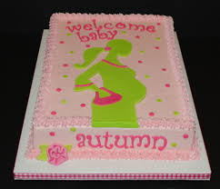 the bakery next door pregnant silhouette baby shower cake