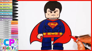 Lego Superman Coloring Pages Kids 16 Superman Coloring