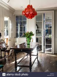 Glass Chandeliers For Dining Room Murano Glass Chandelier With Artwork In Dining Room Of 18th
