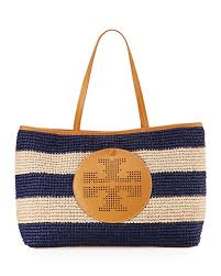 tory burch straw perforated logo tote bag at neiman marcus now 262