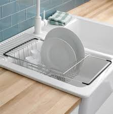 Modren Kitchen Sink With Dishes Share Intended Decorating Ideas - Kitchen sink with drying rack