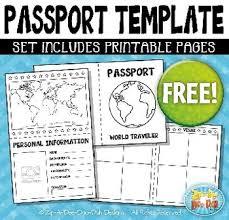 free passport booklet template bundle zip a dee doo dah designs
