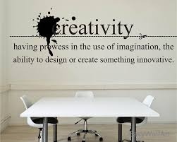 creativity wall quotes decal for living room bedroom office