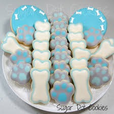 dog bone decorated sugar cookies for humans royal icing white
