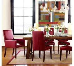 dining table red leather dining table chairs dining room