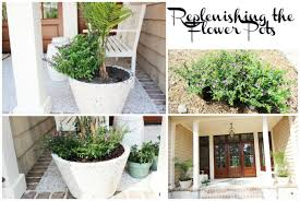 Simple Curb Appeal - simple nature decor