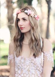 bohemian hair accessories pink flower crown bridal headpiece bohemian wedding