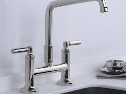 bridge faucet kitchen kitchen bridge faucets for kitchen and 48 wonderful bridge