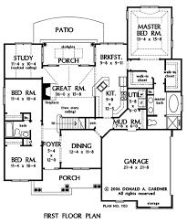 the valmead park plan 1153 craftsman exterior first floor plan of the valmead park house plan number 1153 1 5