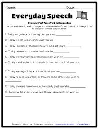 irregular past tense verb halloween fun everyday speech