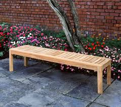 backless bench outdoor ft teak outdoor backless bench image with awesome backless bench