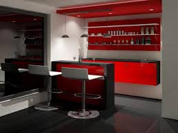 elegant red and black black home bar cabinet can be decor with