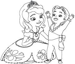 astounding ideas princess sofia coloring pages sofia and clover