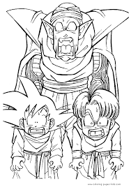 dragon ball z printable coloring pages for kids and for adults