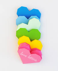 geometric heart love letters popup card minieco