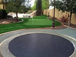 fake grass vallecito california diy putting green backyard makeover