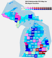 Map Of Michigan Counties by 2012 National And State Pvi Bellwether Counties For All 50 States