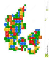 Map Of Denmark Lego Map Of Denmark Stock Vector Illustration Of Lego 29285637