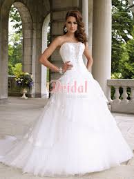 strapless plunging v neck winter ball gown dropped waist wedding