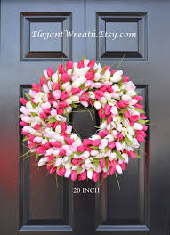 tulip wreath tulips wreath decor tulips wreath