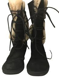 s ugg australia black boots ugg australia black whitley suede lace up s n 5122 boots