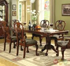 Solid Wood Formal Dining Room Sets Cherry Finish Solid Wood Dining Table Set Cherry Wood Dining Room