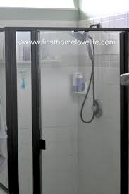 spray painted shower surround first home love life