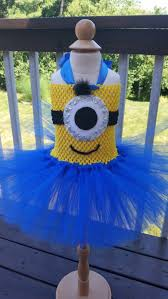 Minion Halloween Costume Baby Minion Minion Inspired Tutu Dress Halloween Costume Toddler Sizes