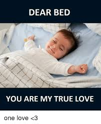 I Love My Bed Meme - dear bed you are my true love one love 3 meme on esmemes com
