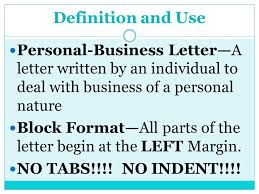 quick reference guide p 77 u0026 78 sample personal business letter