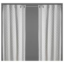 Gray And Brown Shower Curtain - henny rand curtains 1 pair white brown gray ikea