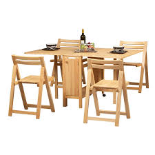 Folding Dining Table With Chairs Space Saving Dining Set Comes Complete With 4 Foldaway Chairs