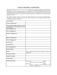 booking agent contract template canada musical artist management