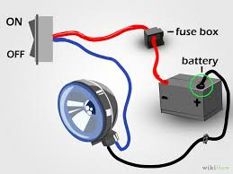 wiring scooter spotlights