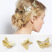 butterfly for hair headwear hair grips metal gold butterfly hair clip hairpins