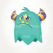 Halloween Vector Images Cute Cartoon Monster Upset Flying Monster Emotion Halloween Vector