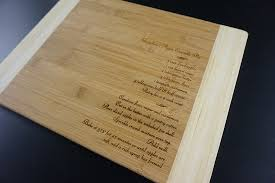 cutting board with recipe engraved unique personalized gift idea recipe engraved cutting boards