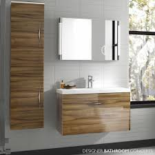 Floor Mounted Vanity Units Bathroom Memoir Designer 600mm Wall Hung Vanity Unit Gloss Walnut