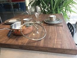 plan de travail noyer plateaux de tables