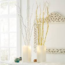 pre lit branches set of 5 cordless pre lit shimmer branches with timer indoor