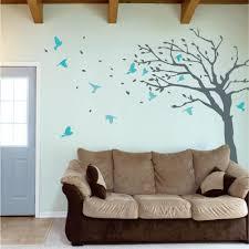 blowing tree with birds wall vinyl sticker wallboss wall blowing tree with birds