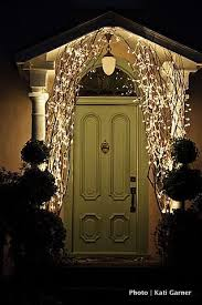 christmas branches with lights branches with lights at entrance would look great at christmas or