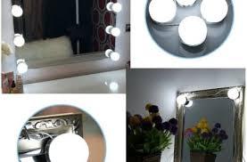 vanity led light mirror artistic 4 led lights mirror circle vanity makeup hollywood style